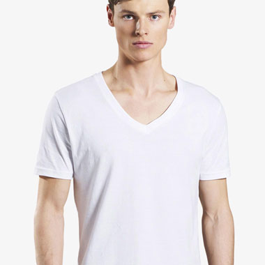Earth Positive V-Neck T-Shirt Slim Fit Herren Bio & Fairtrade