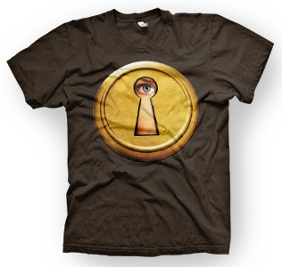 enough shirts, Looking-Through, T-Shirt, cooles Design, Peephole