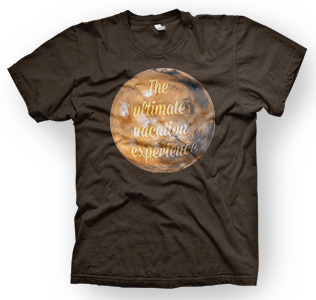 enough shirts, Mars-Vacation, T-Shirt, cooles Design