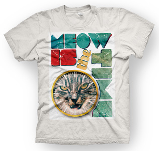 enough shirts, Meow-Time, T-Shirt, cooles Design