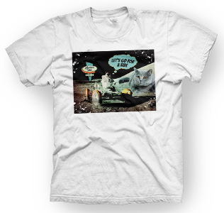 enough shirts, Moon Ride, T-Shirt, cooles Design, Mond