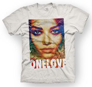 enough shirts, One-Love, T-Shirt, cooles Design