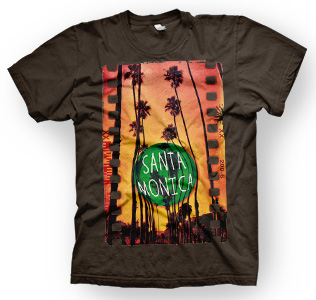 enough shirts,  Santa-Monica, T-Shirt, cooles Design