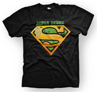 enough shirts,Super-Organic, T-Shirt, cooles Design, Super Logo, Weed