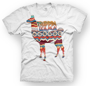 enough shirts,Trippin-Lama, T-Shirt, Tiere, cooles Design