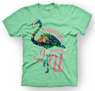 enough shirts, Tropicana, T-Shirt, cooles Design